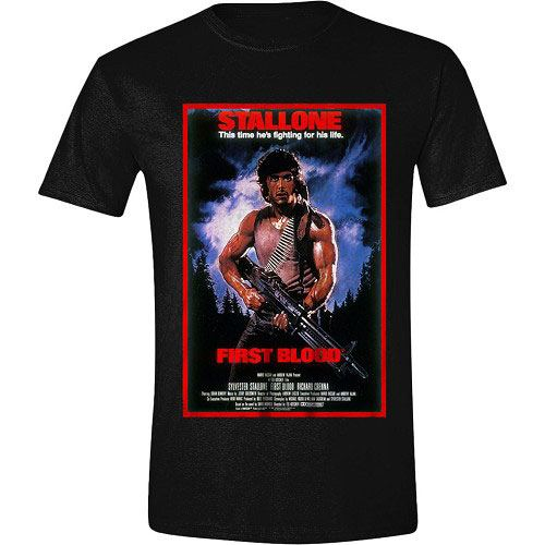 Rambo T-Shirt First Blood Poster Size M