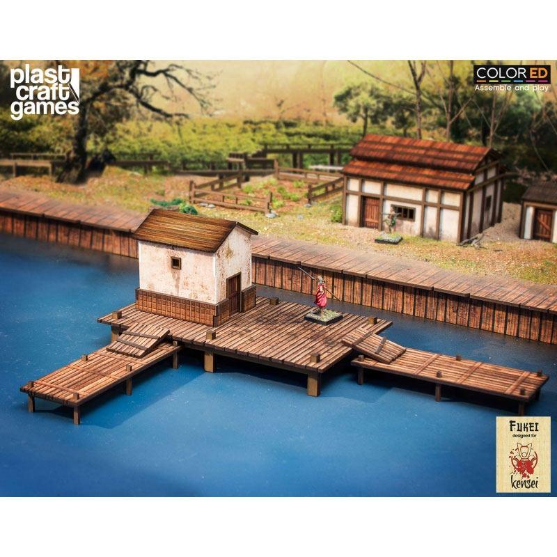 Kensei ColorED Miniature Gaming Model Kit 28 mm Fishing Pier