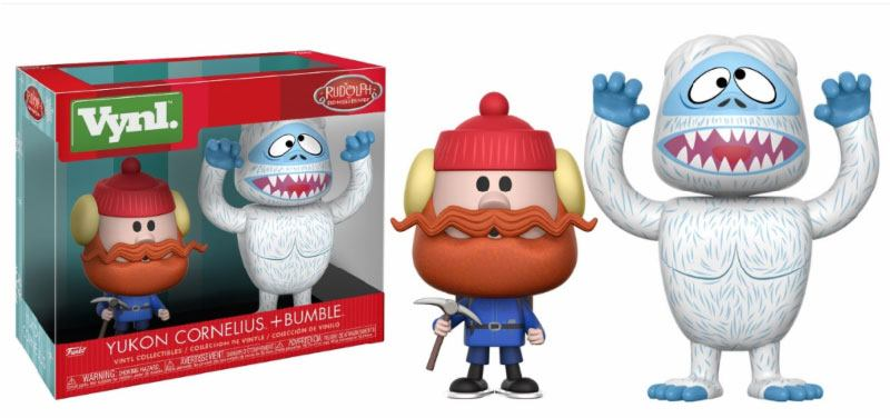 Rudolph the Red-Nosed Reindeer VYNL Vinyl Figures 2-Pack Bumble & Yukon Cornelius 10 cm
