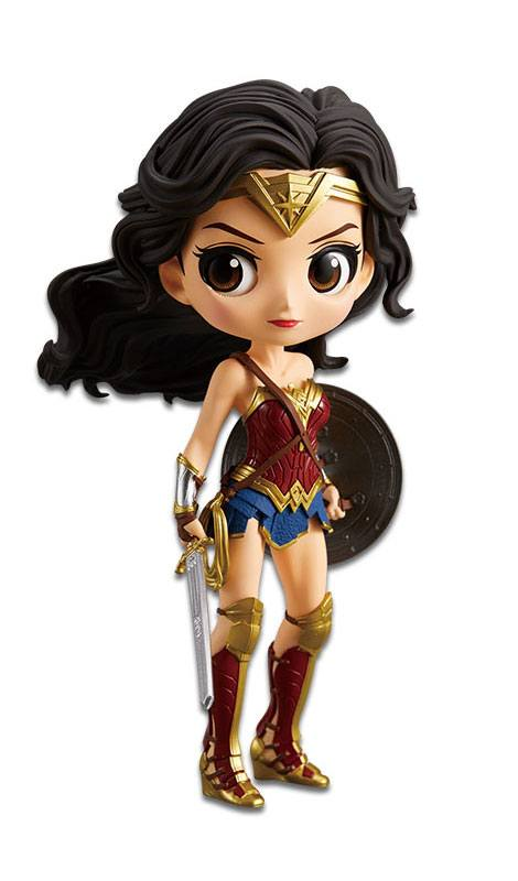 Justice League Q Posket Mini Figure Wonder Woman A Normal Color Version 14 cm