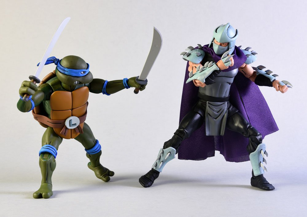 Teenage Mutant Ninja Turtles Action Figure 2-Pack Leonardo vs Shredder 18 cm