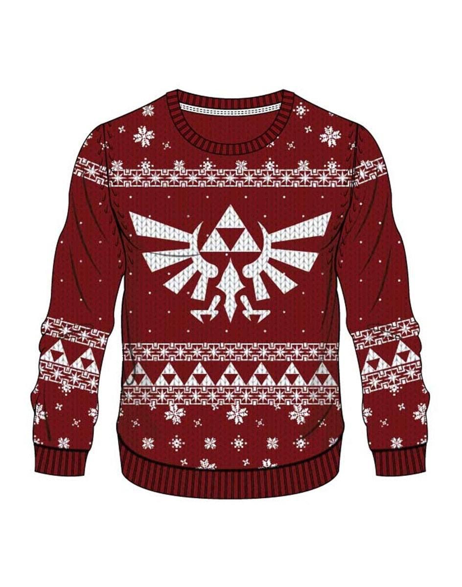 Legend of Zelda Sweater Red Zelda X-mas  Size S