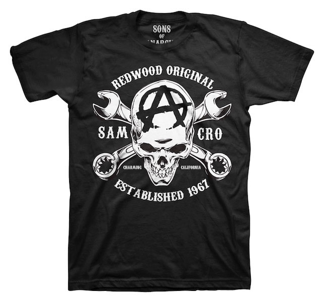 Sons of Anarchy T-Shirt Redwood Skull Size L