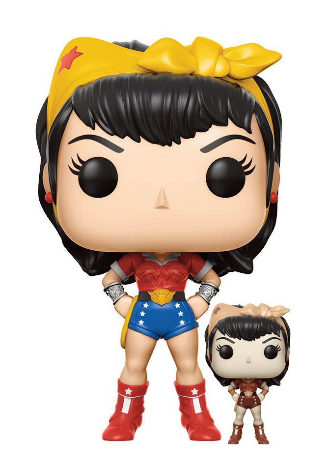 DC Comics Bombshells POP! Heroes Vinyl Figures 9 cm Wonder Woman Assortment (6)