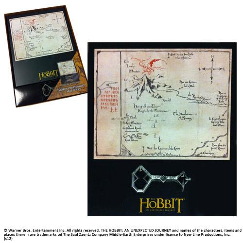 The Hobbit Replica 1/1 Thorin´s Oakenshield´s Map & Key
