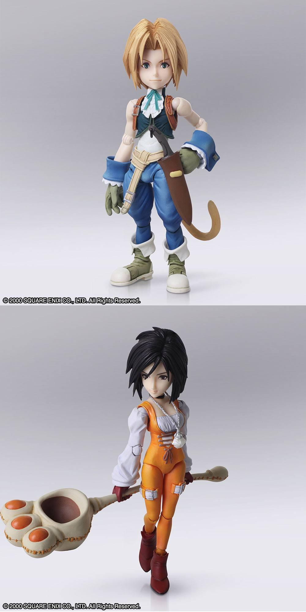 Final Fantasy IX Bring Arts Action Figures Zidane Tribal & Garnet Til Alexandros XVII 12 - 17 cm