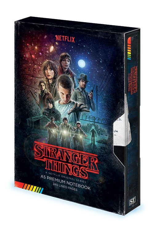 Stranger Things Premium Notebook A5 VHS