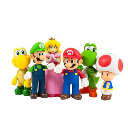 Super Mario Large Collection Action Figures 12 cm Series 1 Assortment (12)