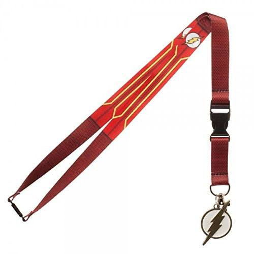 DC Comic Lanyard With Charm Flash Suit