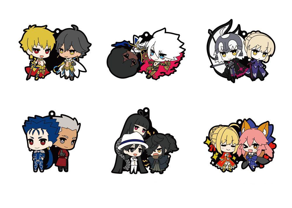 Fate / Grand Order Rubber Mascot 6 cm Assortment (6)