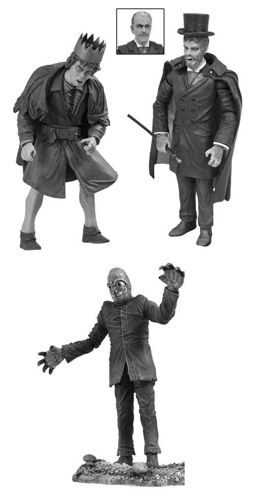 Universal Monsters Legacy Series Black & White Action Figure Box Set #4 18 cm