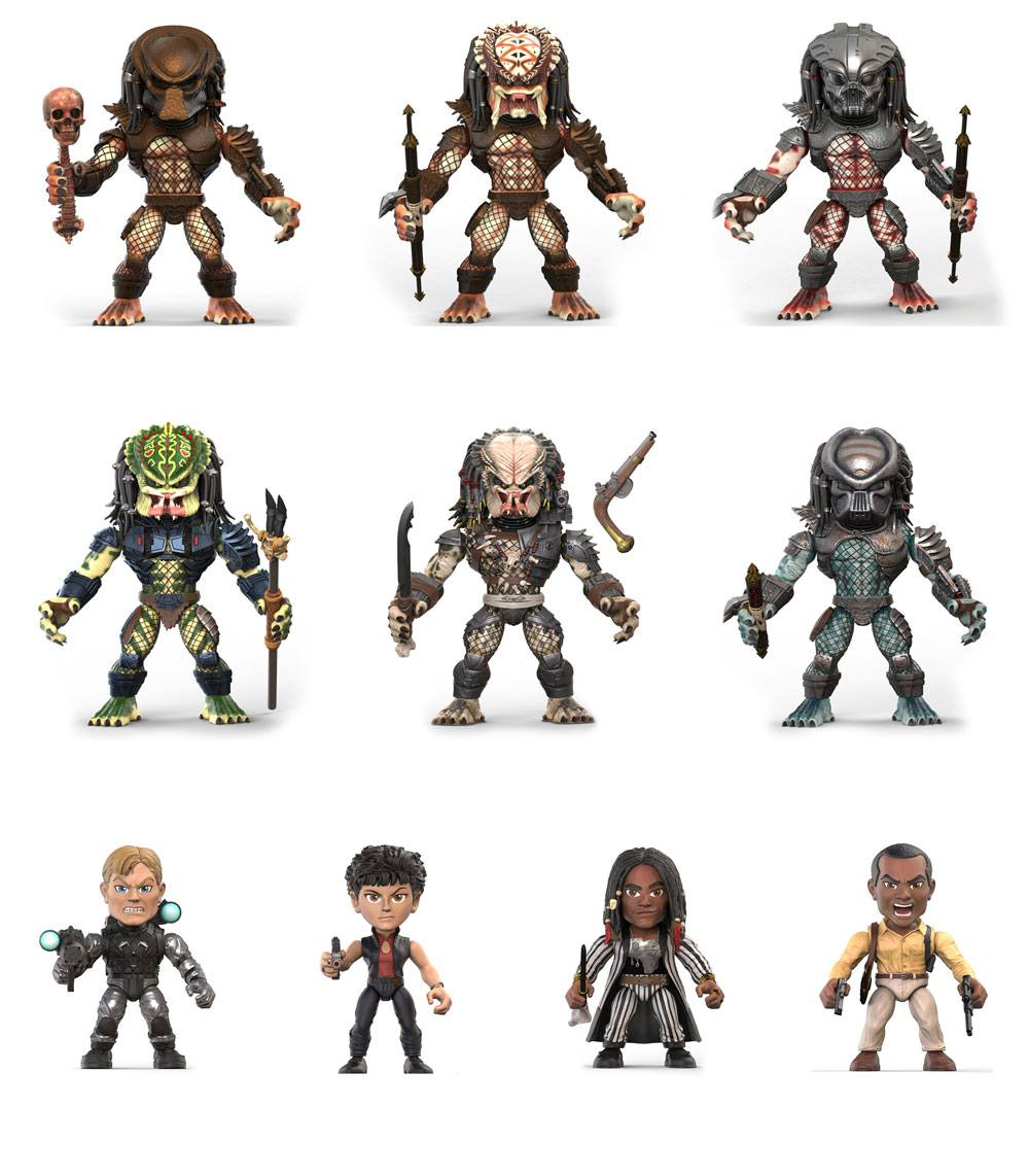 Predator Action Vinyl Mini Figures 8 cm Wave 1 Display (12)
