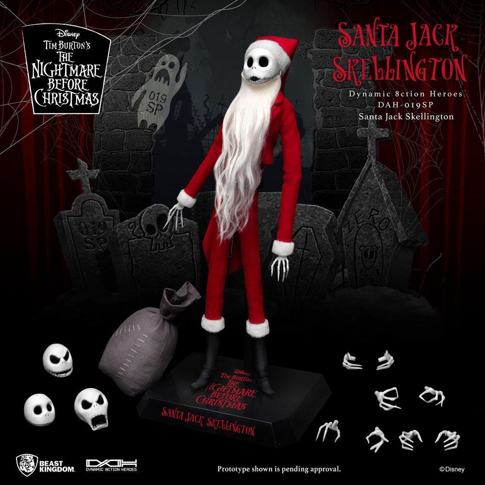 Nightmare before Christmas Dynamic 8ction Heroes Action Figure 1/9 Santa Jack Skellington 21 cm