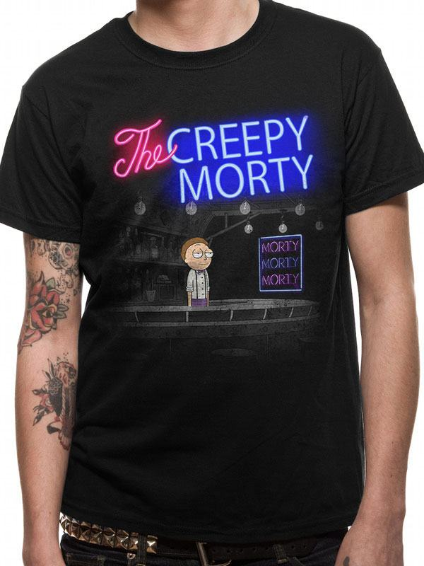 Rick & Morty T-Shirt Bartender Morty Size S