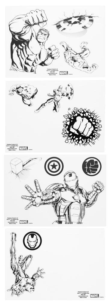 Marvel Gadget Decals Avengers
