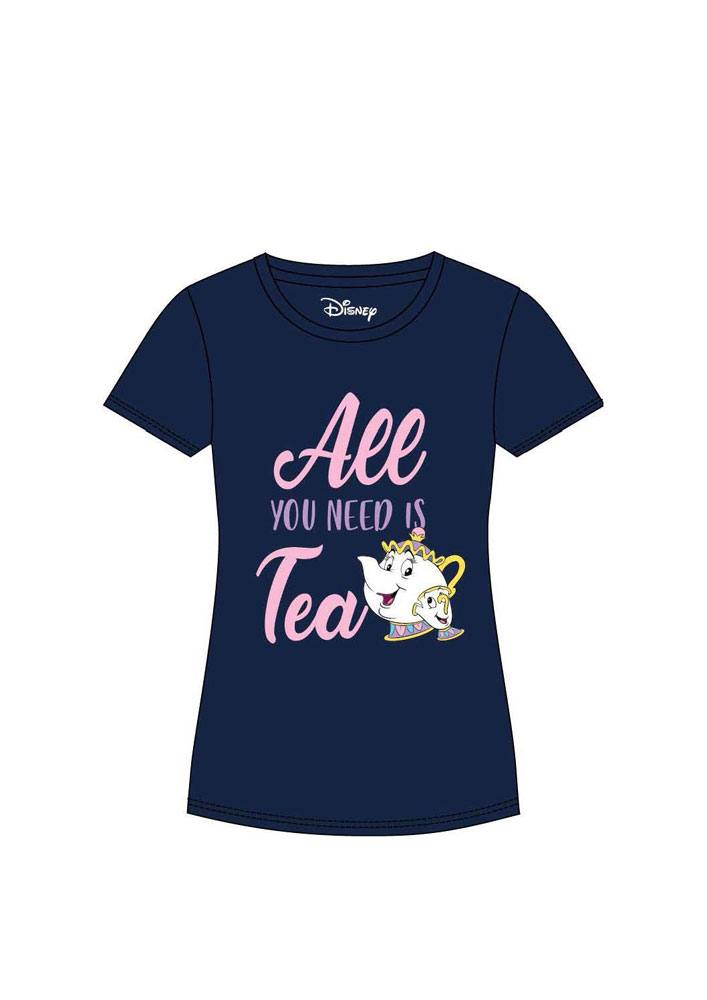 Beauty and the Beast Ladies T-Shirt All You Need Is Tea Size L