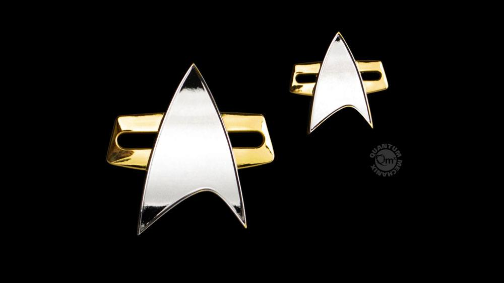 Quantum Mechanix Star Trek: Voyager Enterprise Badge & Pin Set