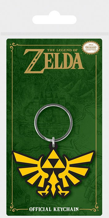 Legend of Zelda Rubber Keychain Triforce 6 cm