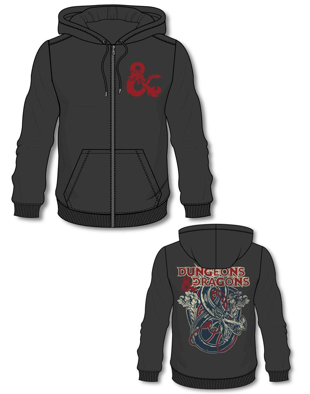 Dungeons & Dragons Hooded Sweater Iconic Logo Size M