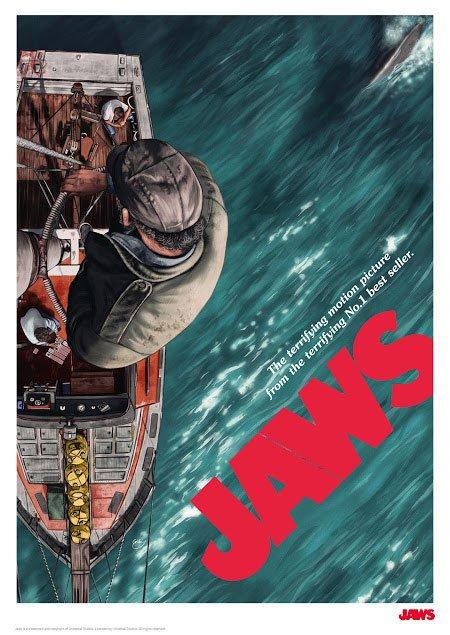 Jaws Art Print Boat 42 x 30 cm