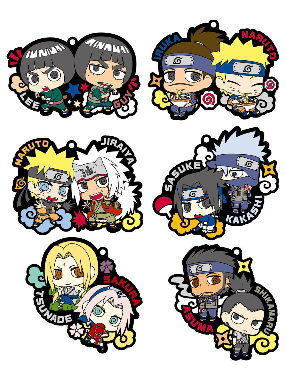 Naruto Rubber Charms 6 cm Assortment (8)