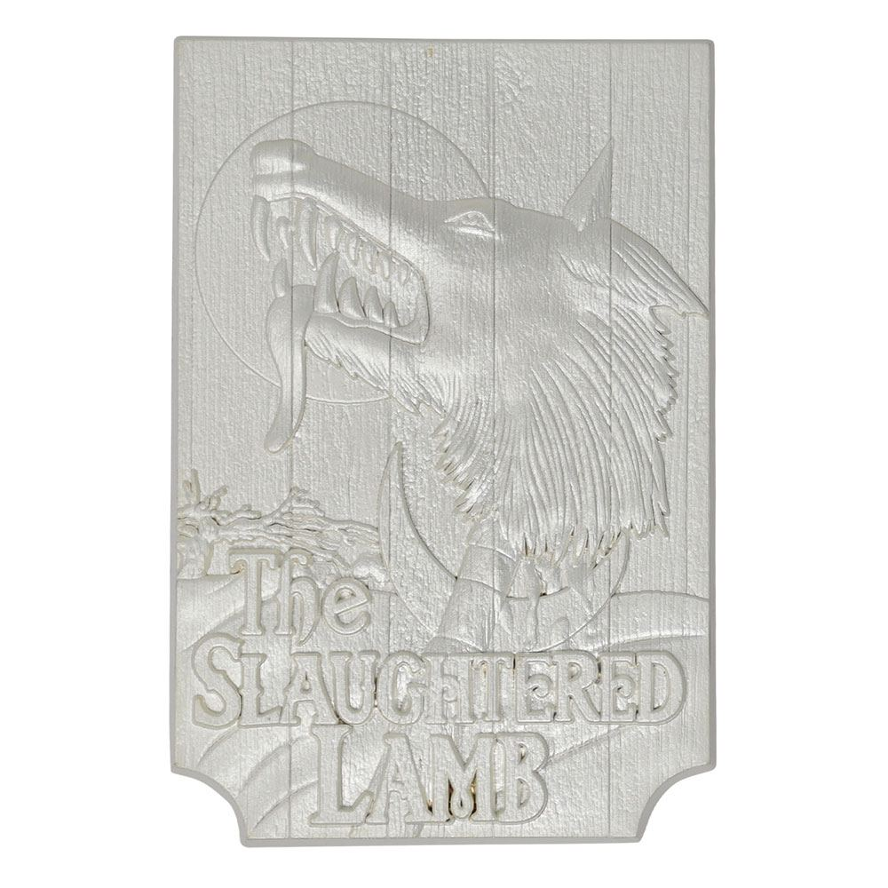 An American Werewolf in London Replica Slaughtered Lamb Pub Sign (silver plated)