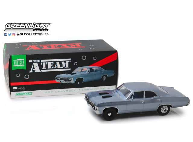 A-Team Diecast Model 1/18 1967 Chevrolet Impala Sport Sedan