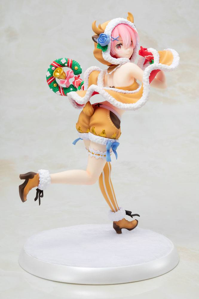 Re:ZERO -Starting Life in Another World- PVC Statue 1/7 Ram Christmas Maid Ver. 23 cm