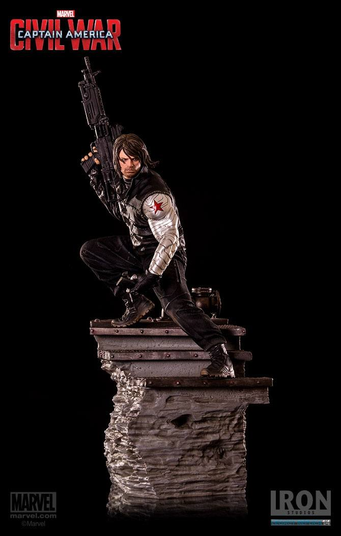Captain America Civil War Statue 1/4 Winter Soldier 70 cm