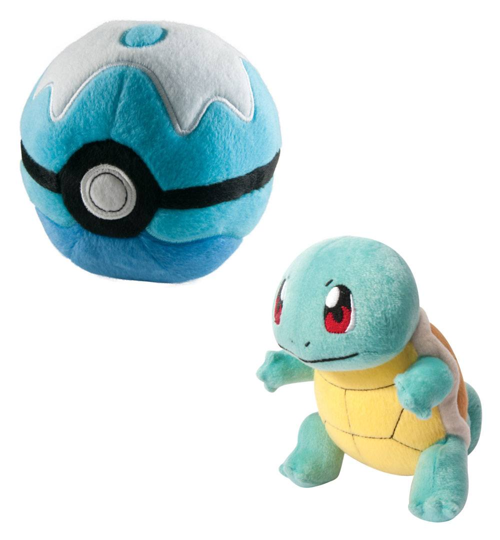 Pokemon Plush Figure Squirtle with Poke Ball 15 cm --- DAMAGED PACKAGING