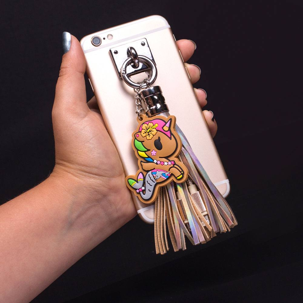 Tokidoki USB Charging Cable 3in1 with Keychain Glitter Tassel