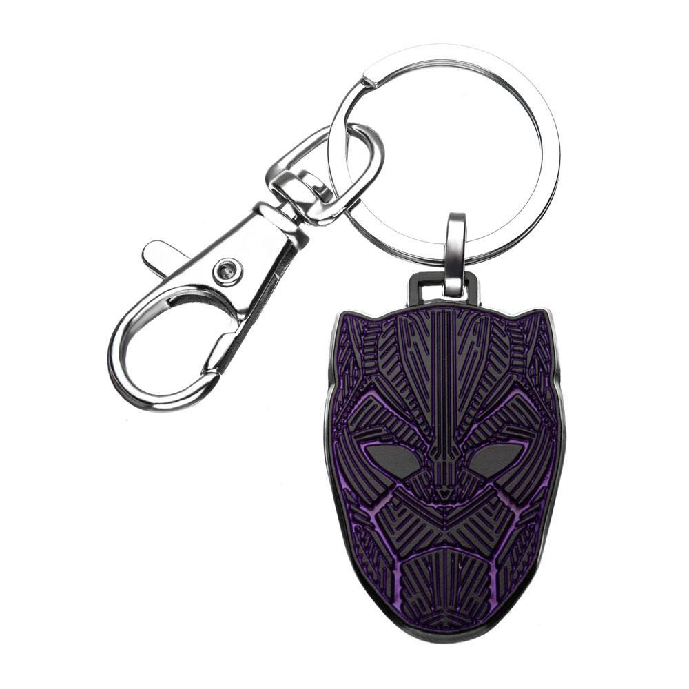 Black Panther Metal Keychain Black Panther Mask