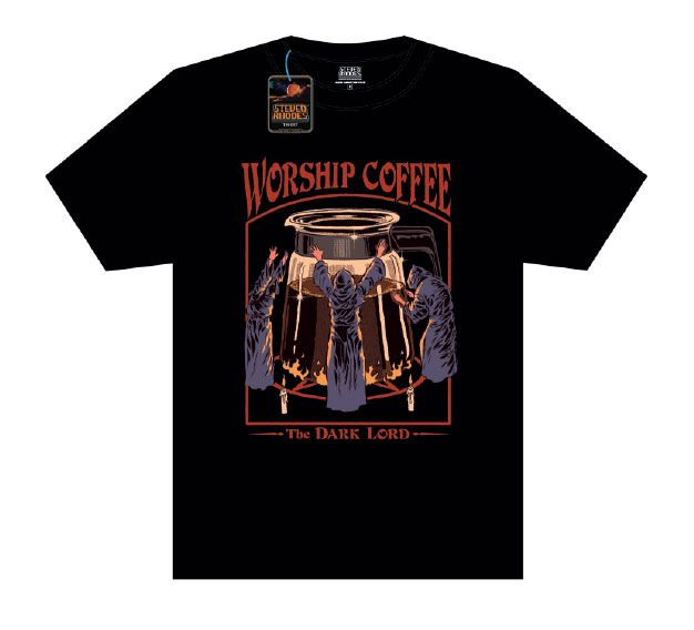 Steven Rhodes T-Shirt Worship Coffee black Size L