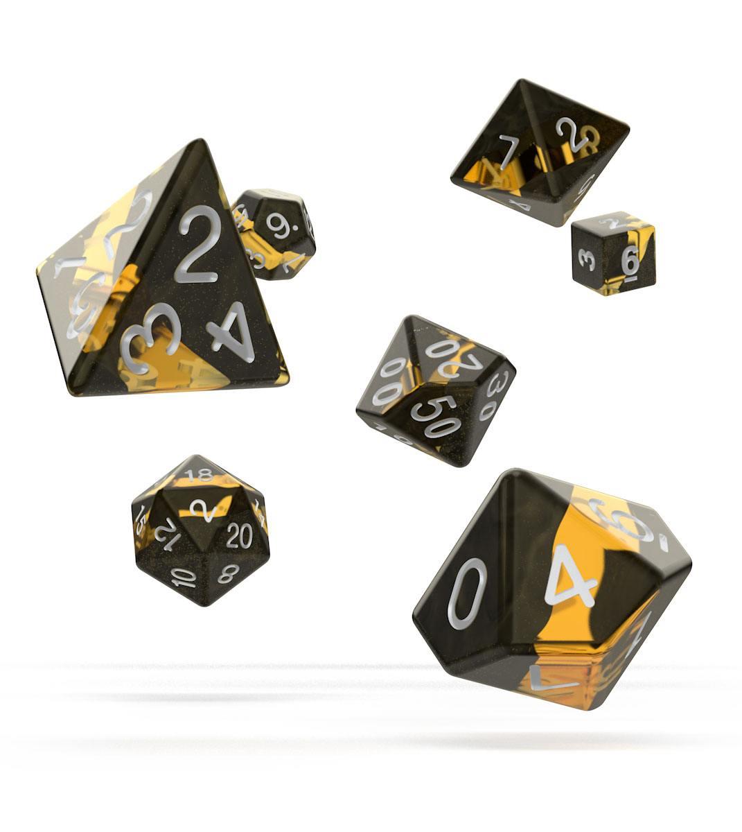 Oakie Doakie Dice RPG Set Enclave - Amber (7)