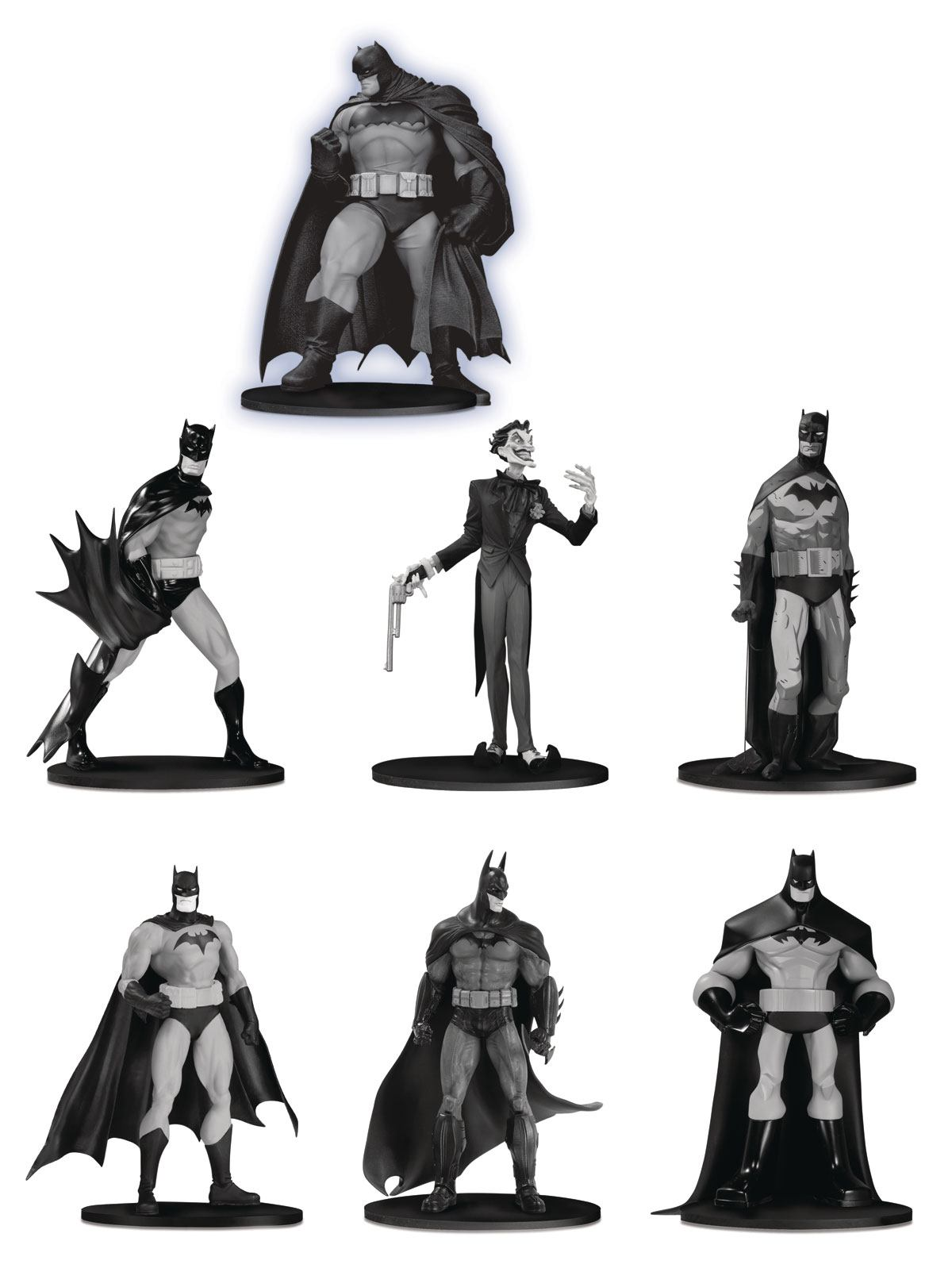 Batman Black & White PVC Minifigure 7-Pack Box Set #3 10 cm
