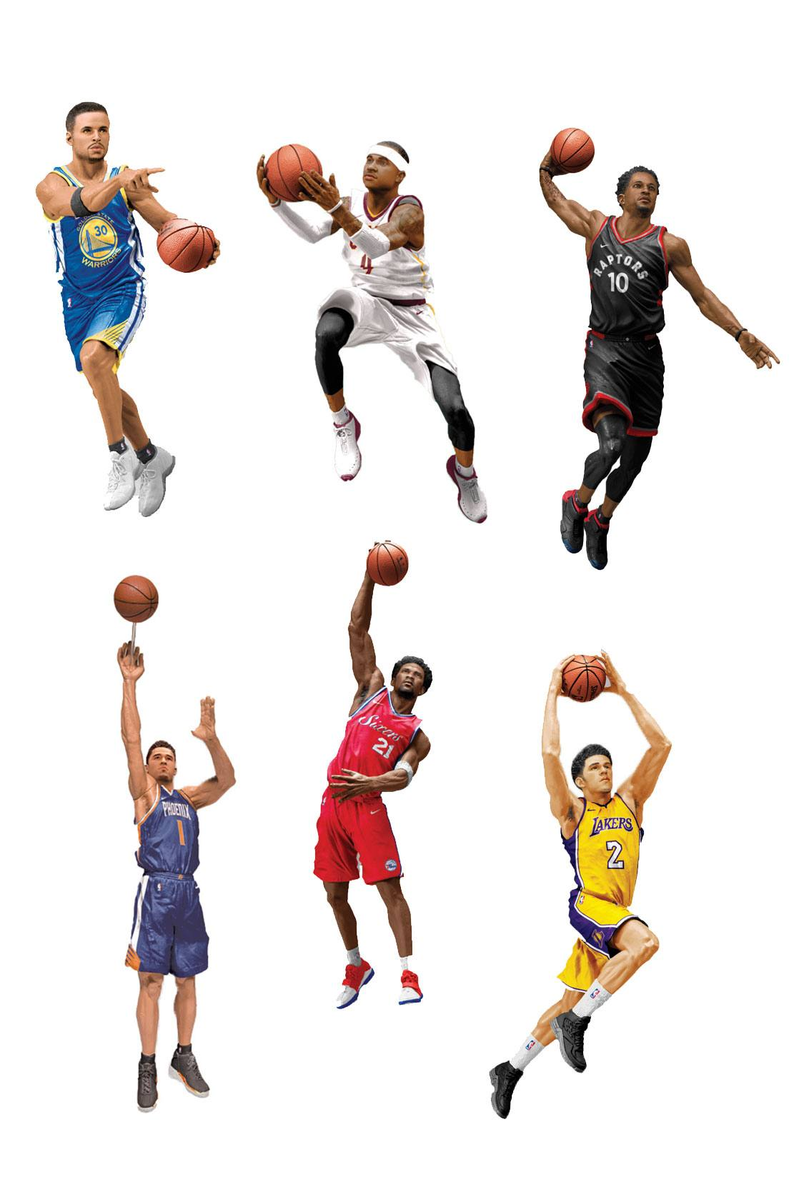 NBA Basketball Action Figures 15 cm Series 32 Assortment (8)