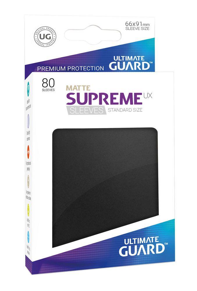 Ultimate Guard Supreme UX Sleeves Standard Size Matte Black (80)