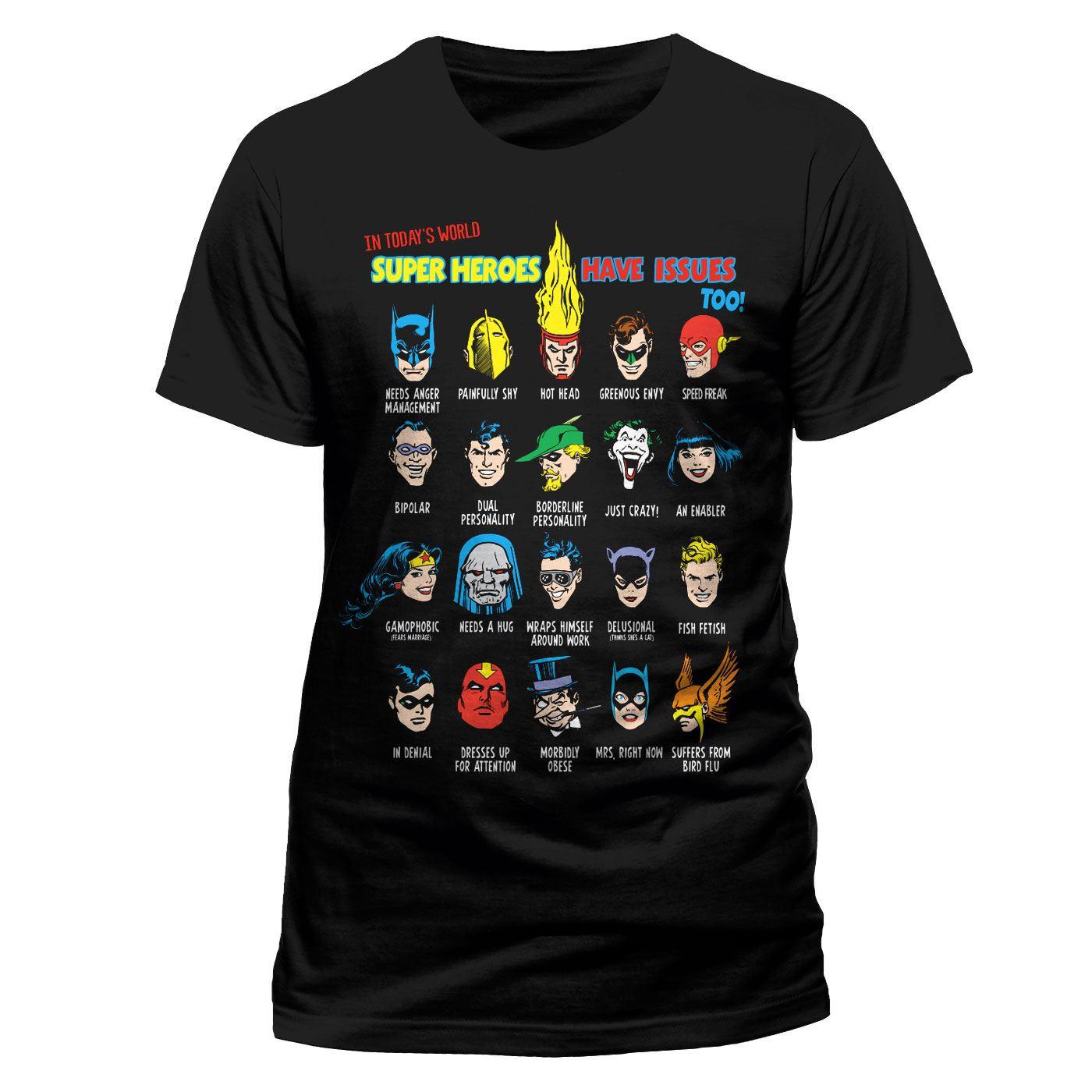 Justice League T-Shirt Superhero Issues Size M