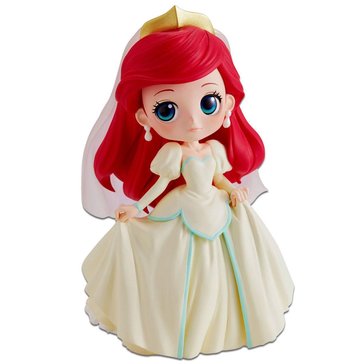 Disney Q Posket Mini Figure Ariel Dreamy Style A Normal Color Version 14 cm