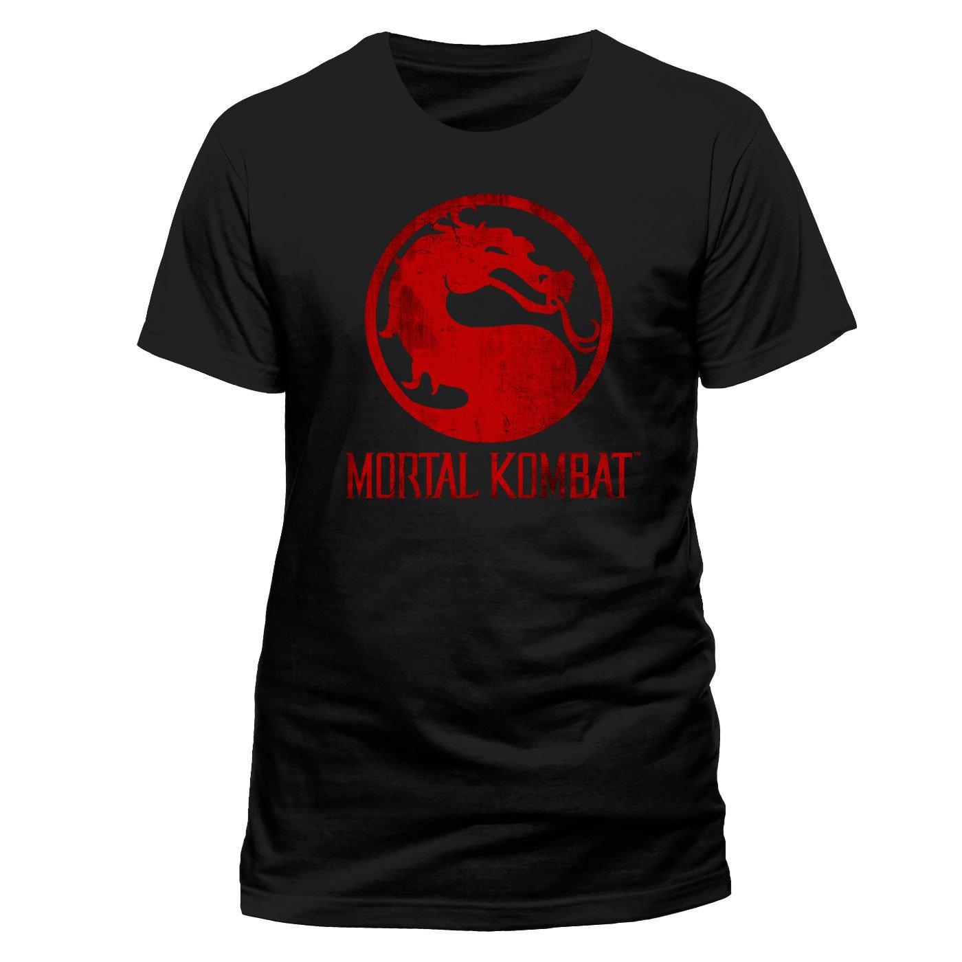 Mortal Kombat T-Shirt Distressed Logo Size XXL