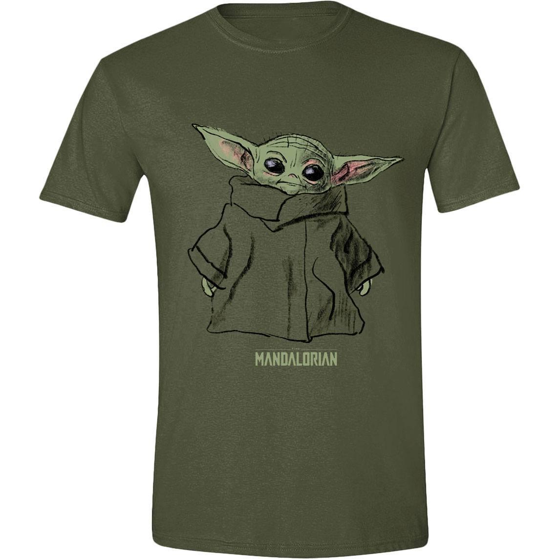 Star Wars The Mandalorian T-Shirt The Child Sketch Size XL