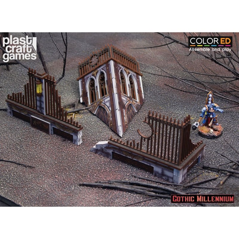 Gothic Millennium ColorED Miniature Gaming Model Kit 28 mm Crumbled Tower and Ruins