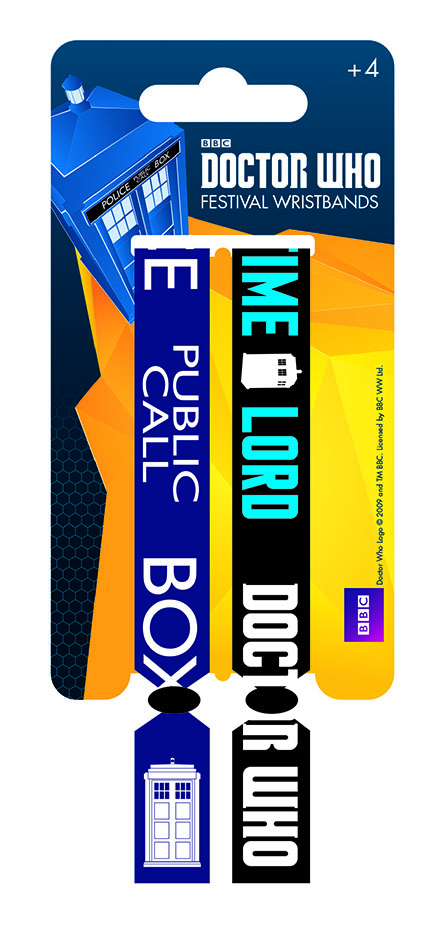 Doctor Who Festival Wristband 2-Pack Time Lord