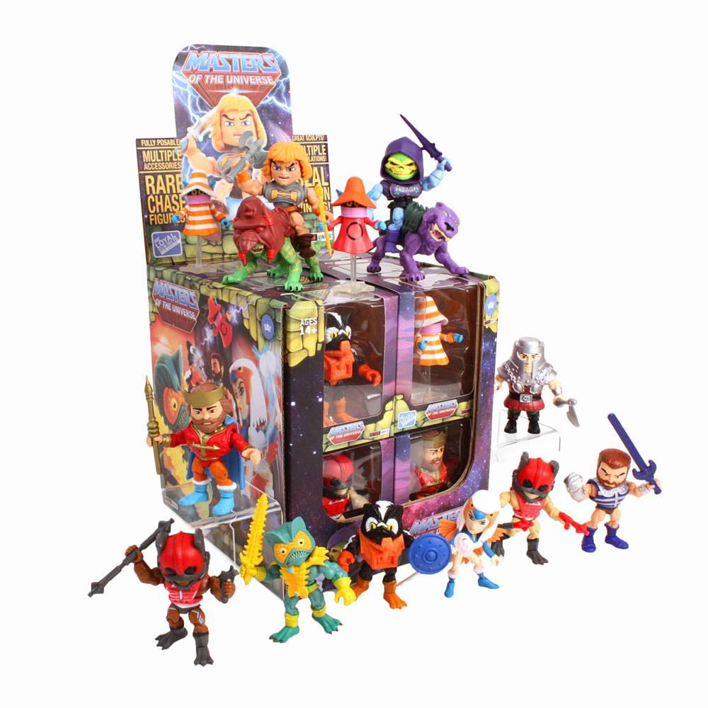 Masters of the Universe Action Vinyls Mini Figures 8 cm Wave 2 Display (12)