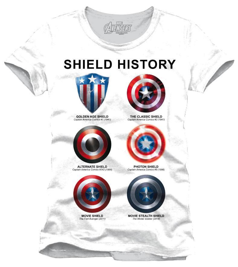 Avengers Assemble T-Shirt Shield History Size S