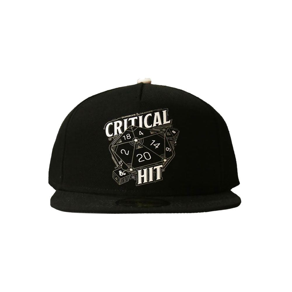 Difuzed Dungeon & Dragons Snapback Cap Critical Hit