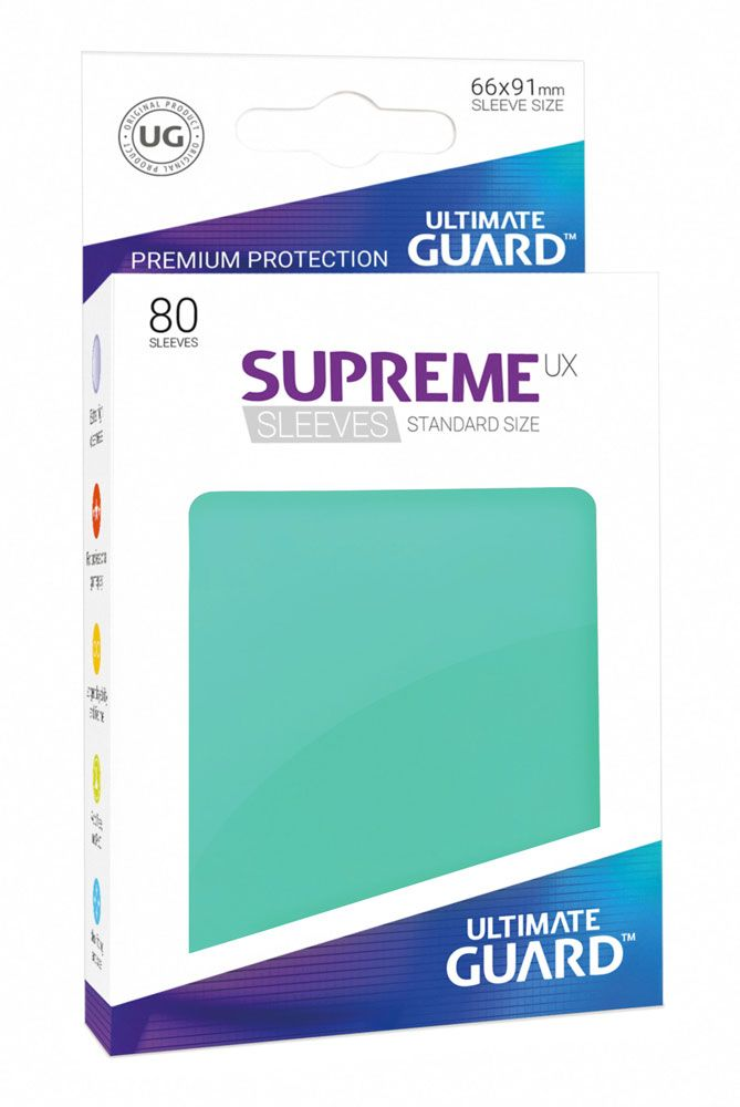Ultimate Guard Supreme UX Sleeves Standard Size Turquoise (80)