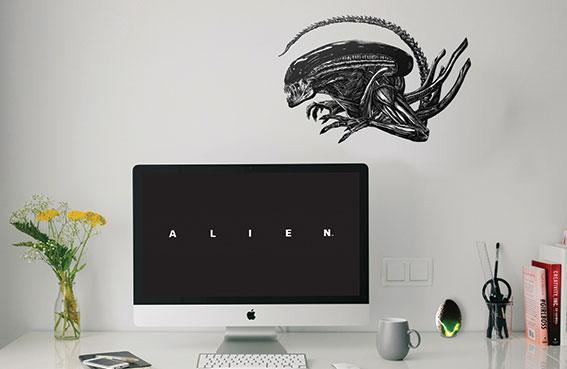 Alien Wall Decal Set