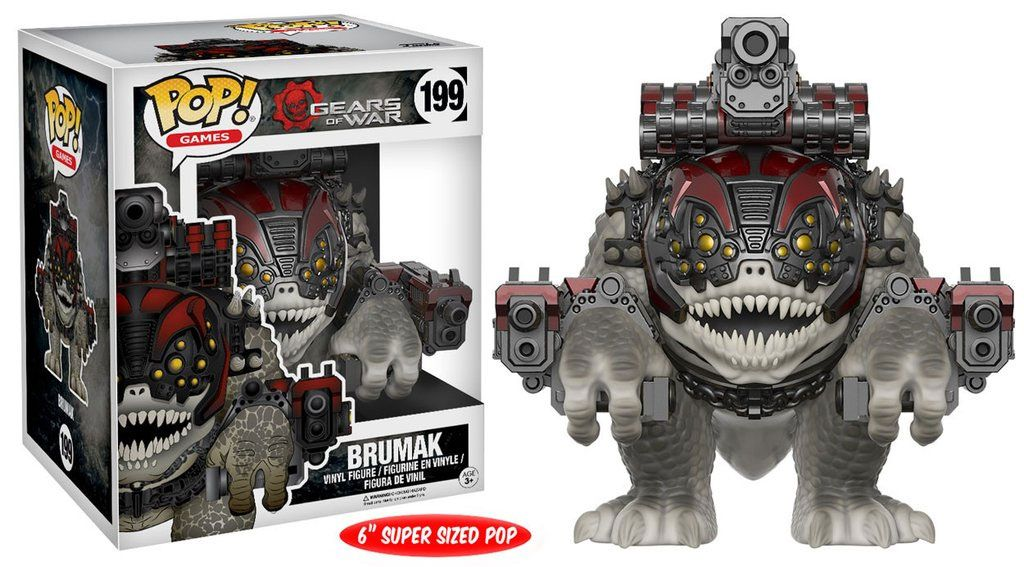 Gears of War Super Sized POP! Games Vinyl Figure Brumak 15 cm