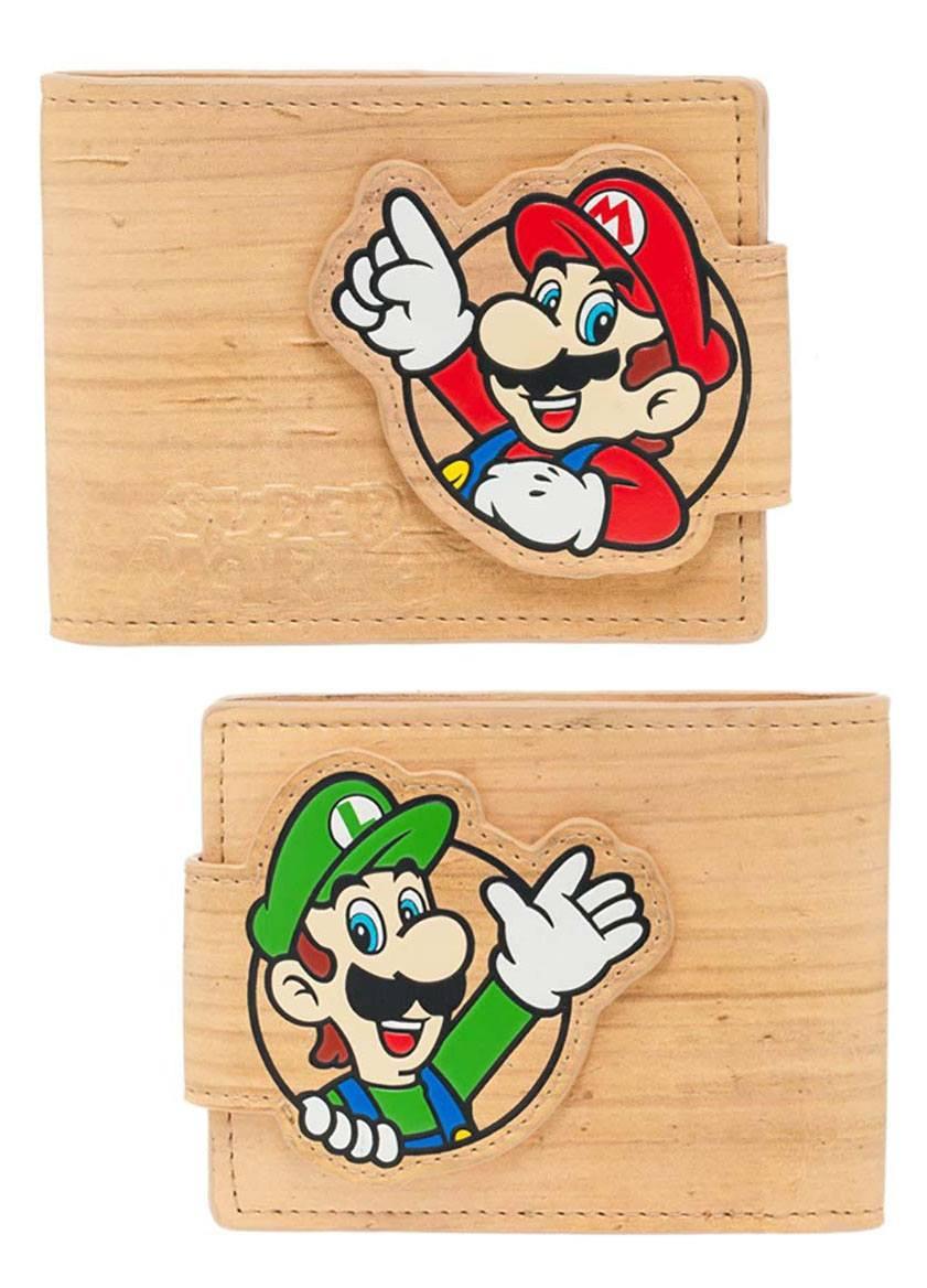 Nintendo Woodgrain Snap Bifold Portemonnee